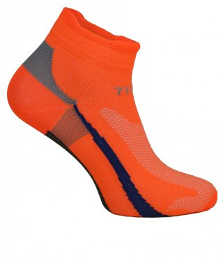 Cienkie skarpety RAID LOW, kolorowe, idealnie dopasowane, antybakteryjne - pomarańczowy
