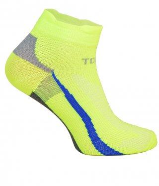 Cienkie skarpety RAID LOW, kolorowe, idealnie dopasowane, antybakteryjne - żółty fluo