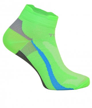 Cienkie skarpety RAID LOW, kolorowe, idealnie dopasowane, antybakteryjne - zielony fluo
