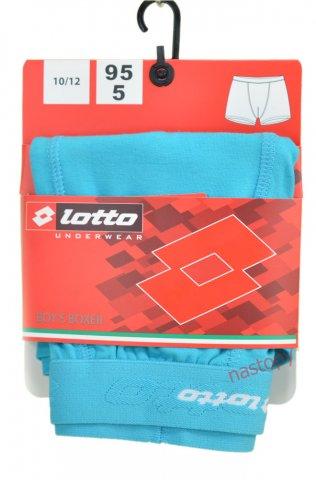 Bokserki chłopięce LOTTO wygodne, elastyczne,logo 3D, 95% Bawełna - turkusowy