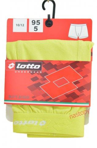 Bokserki chłopięce LOTTO wygodne, elastyczne,logo 3D, 95% Bawełna - żółty