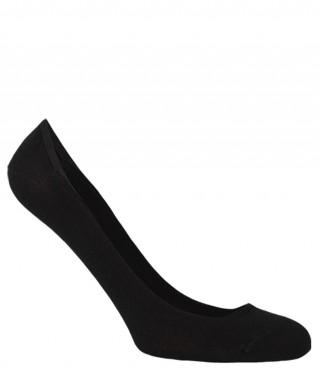 Stopki damskie bawełniane BALETINA do balerinek, z silikonową zapiętką - antybakteryjne - czarny