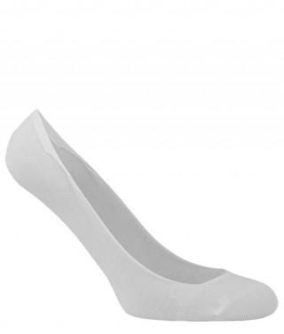 Stopki damskie bawełniane BALETINA do balerinek, z silikonową zapiętką - antybakteryjne - biały