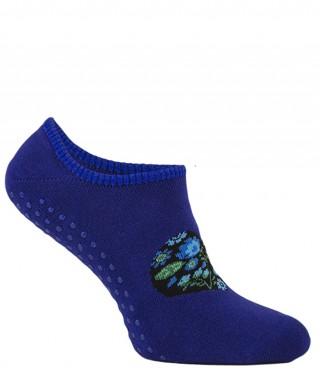 Stopki frotte damskie antypoślizgowe ABS - niebieski
