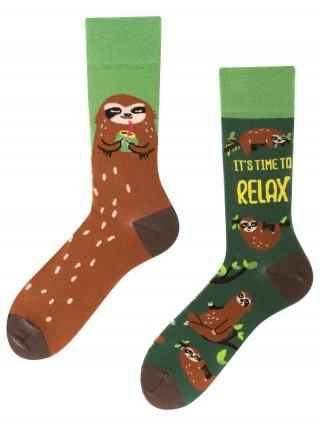 Sloth Mood, Todo Socks, Relaks, Leniwiec, Drzewo, Kolorowe Skarpetki - Sloth Mood