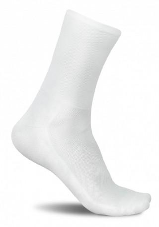 Profesjonalne skarpety kolarskie SECRET WHITE - nieskazitelna biel - GŁADKIE - Secret White