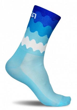 Kolorowe skarpety kolarskie TENERIFE BLUE - Fale - Tenerife Blue