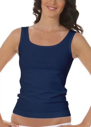 Koszulka Damska na Ramiączkach Oddychająca Elastyczna Made in Italy - Blu