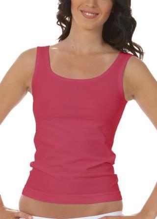 Koszulka Damska na Ramiączkach Oddychająca Elastyczna Made in Italy - Corallo