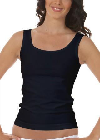 Koszulka Damska na Ramiączkach Oddychająca Elastyczna Made in Italy - Nero
