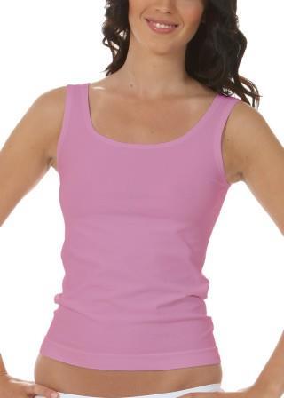 Koszulka Damska na Ramiączkach Oddychająca Elastyczna Made in Italy - Rosa