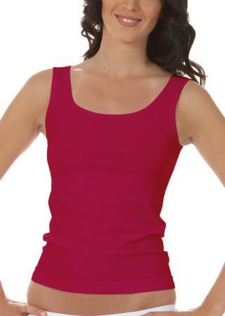 Koszulka Damska na Ramiączkach Oddychająca Elastyczna Made in Italy - Rosso