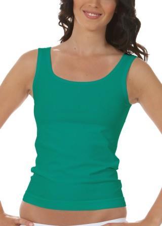 Koszulka Damska na Ramiączkach Oddychająca Elastyczna Made in Italy - Verde Smeraldo