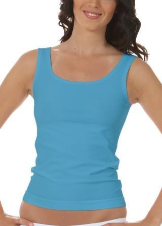 Koszulka Damska na Ramiączkach Oddychająca Elastyczna Made in Italy - Turchese