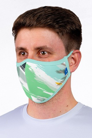 Maska maseczka miejska, wielorazowa, z certyfikatem, PASTELS - Maska