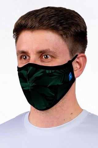 Maska maseczka miejska, wielorazowa, z certyfikatem, DARK GREEN - Maska