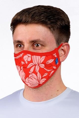 Maska maseczka miejska, wielorazowa, z certyfikatem, RED - Maska
