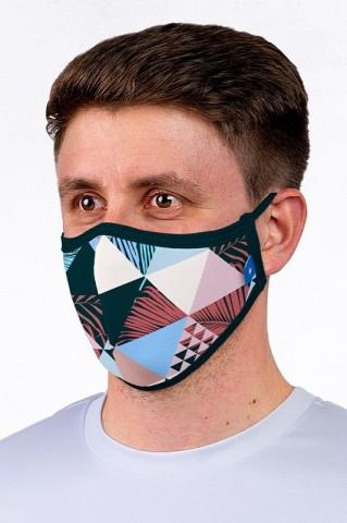 Maska maseczka miejska, wielorazowa, z certyfikatem, TRIANGLES - Maska