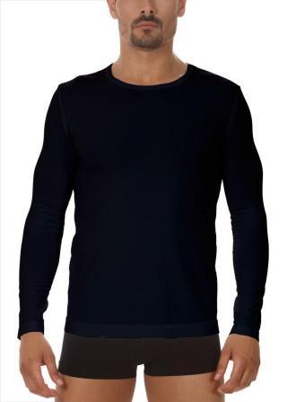 Koszulka Męska Termoaktywna z DŁUGIM rękawem. Elastyczna - Nero