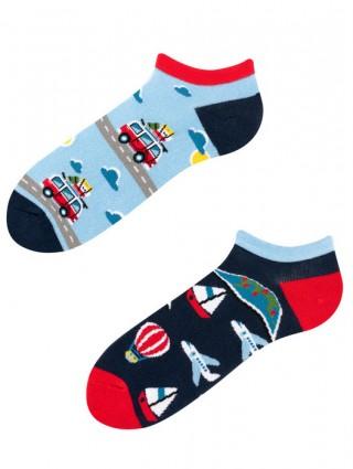 Stopki, Adventure Socks Low, Todo Socks, Podróże, Pojazdy, Kolorowe  - Adventure Socks Low