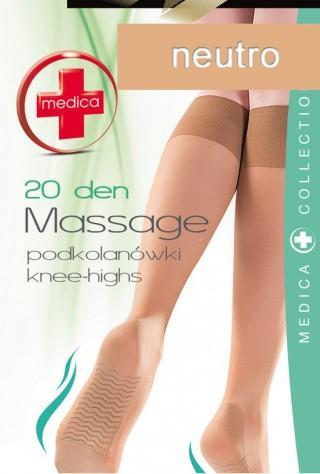 Podkolanówki (20den) Massage z masażem stóp - neutro