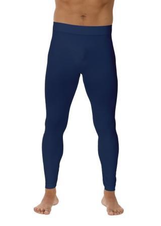 Męskie Legginsy Termiczne antybakteryjne, szybkoschnące - Blu