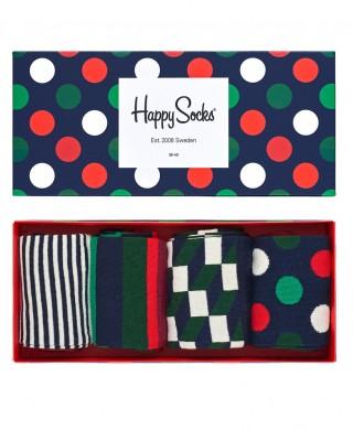 Kolorowe skarpetki Happy Socks - Holiday Big Dot Gift Box, 4 pary XBDO09-4000 - XBDO09-4000