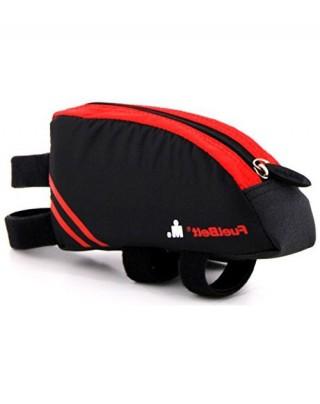 Saszetka na rower o aerodynamicznym kształcie. Aero FuelBox - Black/Red