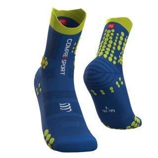 Skarpety do biegania TRAIL Pro Racing Socks v 3.0 - do biegów po górach - BLUE/LIME - Blue/Lime
