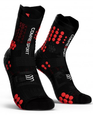 Skarpety biegowe TRAIL Pro Racing Socks v 3.0 - do biegów po górach - BLACK/RED - Bleck/Red
