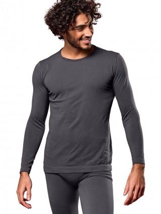 Koszulka Męska Termoaktywna z DŁUGIM rękawem M3. Elastyczna - Antracite
