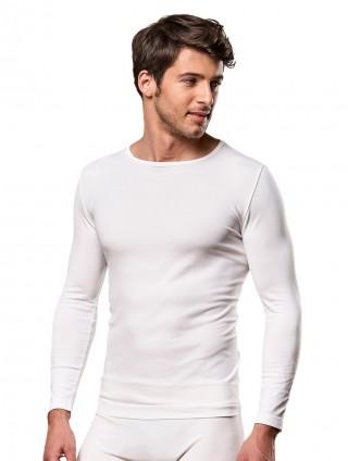 Koszulka Męska Termoaktywna z DŁUGIM rękawem M3. Elastyczna - Bianco