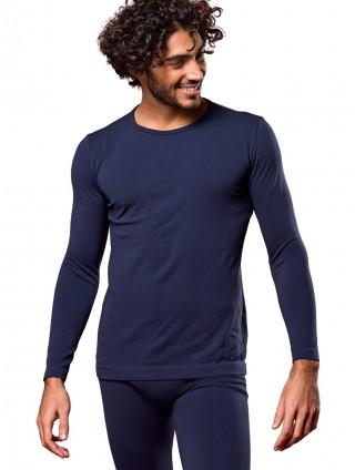 Koszulka Męska Termoaktywna z DŁUGIM rękawem M3. Elastyczna - Blu