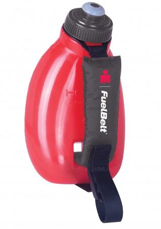 Butelka biegowa mieszcząca się w dłoni. Na szybki Trening. SPRINT Palm Holder, na rynek USA - Black/Red