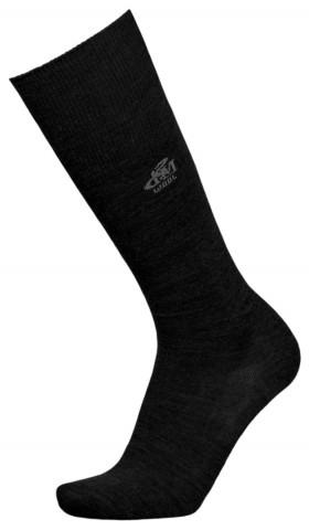 Skarpety długie z wełną Merino 36% Deomed Wool LONG, bezuciskowe i ciepłe - czarny