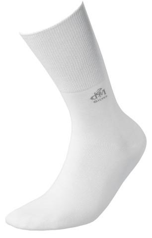 Skarpety Deomed Cotton SILVER zdrowotne, bezuciskowe, bawełniane  - biały