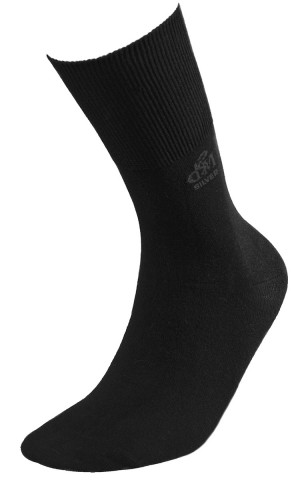 Skarpety Deomed Cotton SILVER zdrowotne, bezuciskowe, bawełniane  - czarny