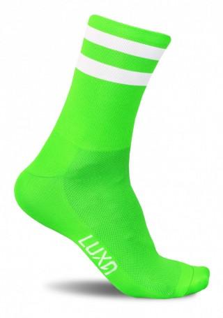 Neonowe skarpety kolarskie FLUO GREEN - bądź widoczny na drodze - Fluo Green