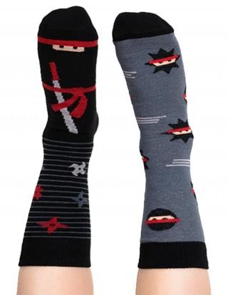 Skarpety kolorowe dla dzieci ninja - Foot Fighter - Foot Fighter