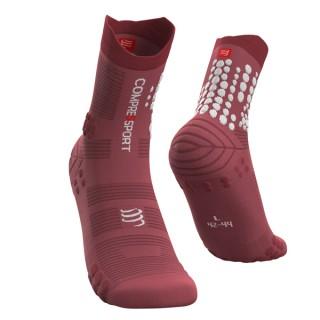 Skarpety biegowe TRAIL Pro Racing Socks v 3.0 - do biegów po górach - GARNET ROSE - Garnet Rose