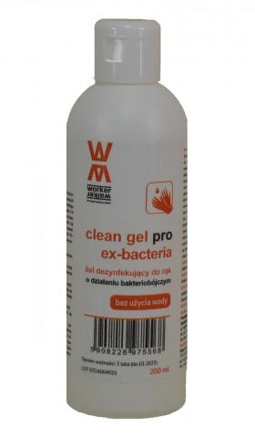 ŻEL dezynfekujący do rąk  CLEAN GEL PRO 250ml - 76% zaw. alkoholu - Żel