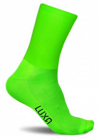 Fluorescencyjne skarpety kolarskie FLUO GREEN - szybkoschnące, gładkie - Fluo Green Gładkie