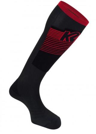 Skarpety Narciarskie K2 MOUNTAIN PERFORMANCE BIOCERAMIC Resistex - czarno-czerwone