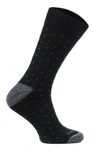 Skarpety Everyday Merino - Klasyczne 40% Merino Wool -  KROPKI  - czarno-szare