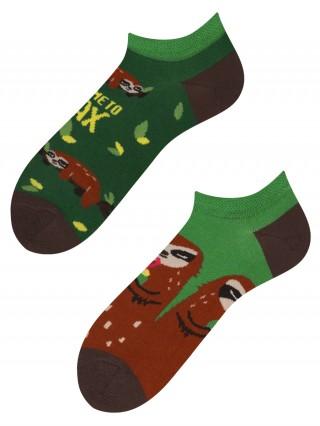 Stopki, Sloth Mood low, Todo Socks, Relaks, Leniwiec, Drzewo, Kolorowe Skarpetki - Sloth Mood Low