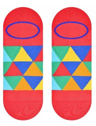 Stopki kolorowe More MOSAIC - kolorowe trójkąty - 2 warianty - czerwony