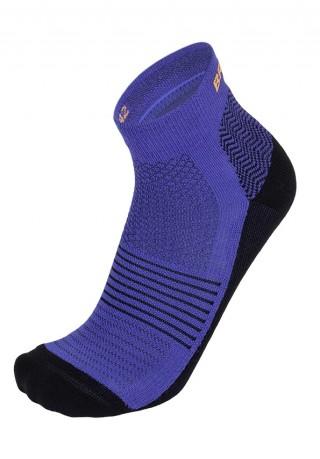 Skarpetki biegowe BRBL NUNAVUT, lekko ponad kostkę - z wełną Merino - niebieski