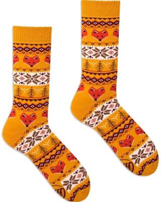 Skarpetki kolorowe MANY MORNINGS frotte Warm Fox - Warm Fox