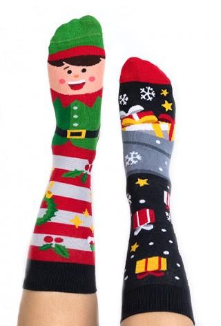 Skarpety kolorowe z serii Happy Friends świąteczne Elfis - Elfis