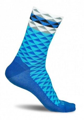 Profesjonalne skarpety kolarskie ASYMMETRIC BLUE- wysokie, oddychające - Asymmetric Blue